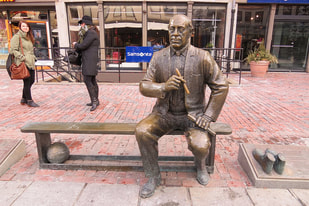 Photo of Arnold Red Auerbach located at Fanueil Hall Market Place